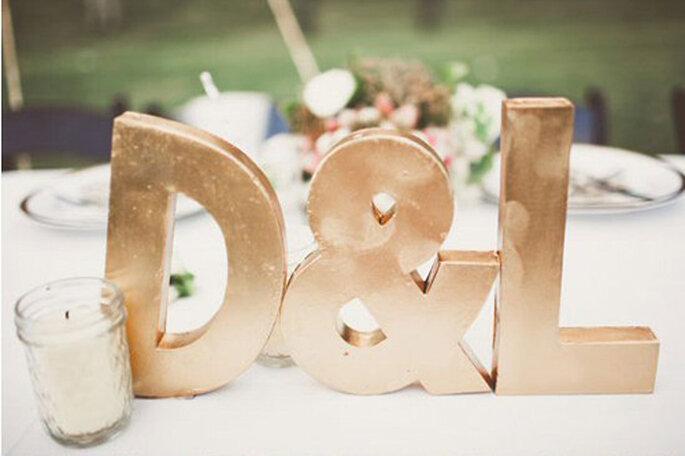 Inspiración en oro para boda. Foto de Angi Welsch.
