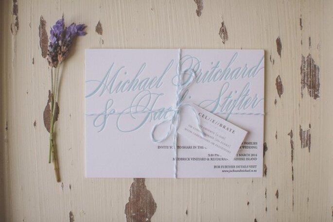 La perfecta combinación de colores en tus invitaciones de boda - Foto Coralee Estelle