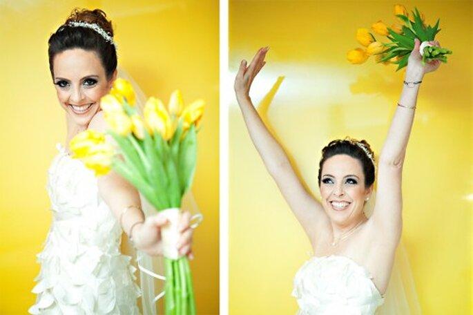 Frühlingsblumen im Brautstrauß – einer der Brautstrauß-Trends 2013 – Foto: Andrea Paccini