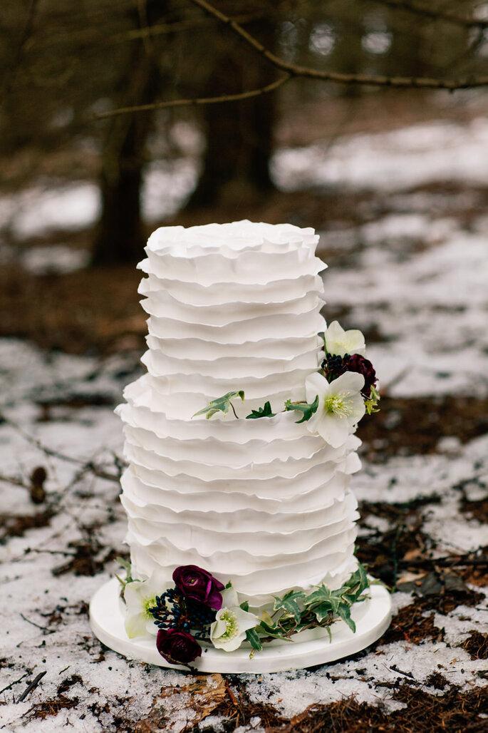 Winterhochzeit Inspiration Torte