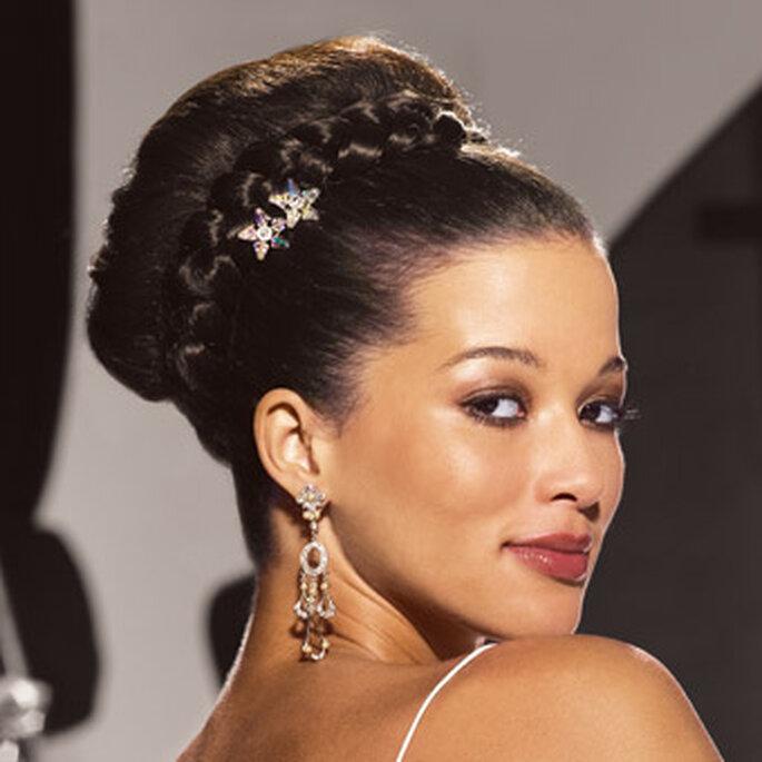 Un peinado con mucho estilo y glamour
