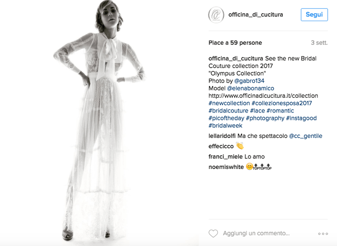 Foto Instagram: Officina di Cucitura