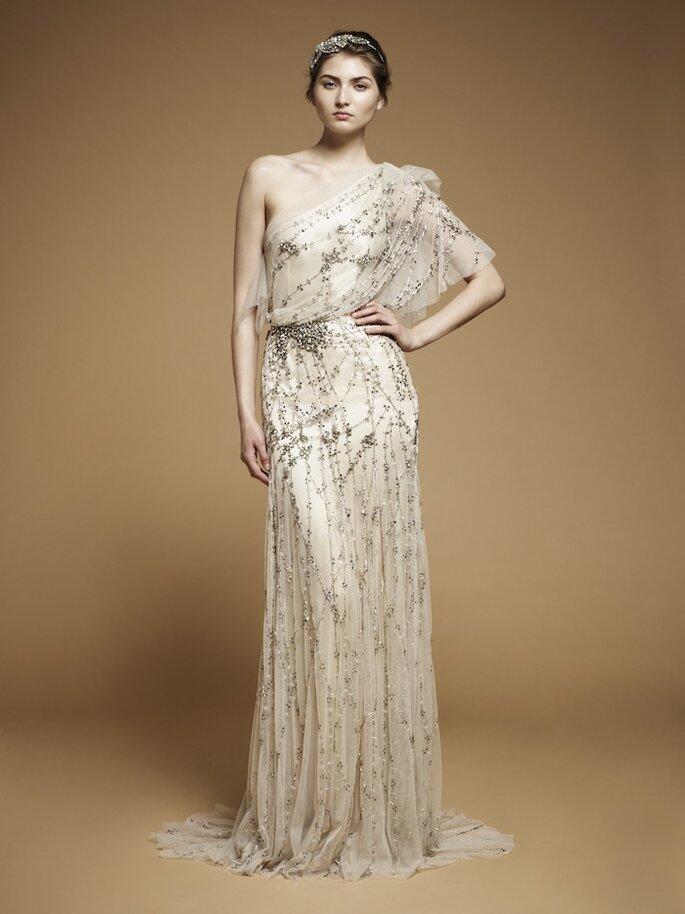 Asymmetrische Brautkleider aus den Kollektionen von 2013 Foto Jenny Packman