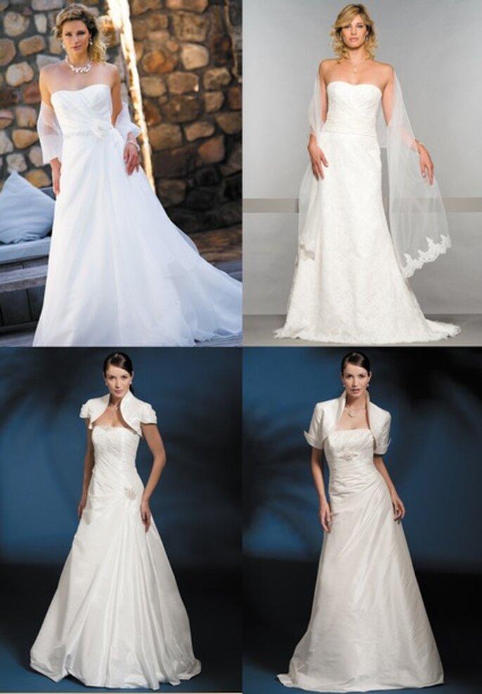 Von Links oben nach rechts unten: Modelle Mirabella, Traviata, Rosalia, Vedette