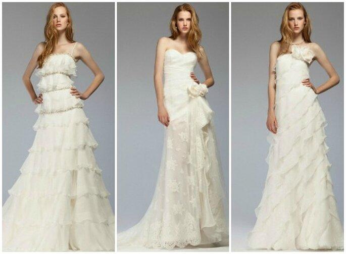 Gli abiti in chiffon con le balze sono uno dei trend di stagione. Blumarine Sposa Collezione 2012 Foto www.blumarine.com