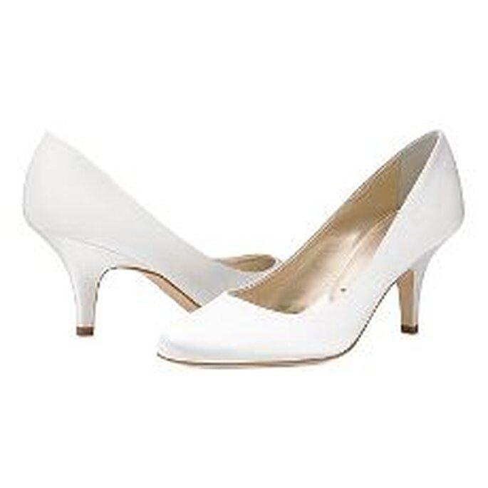 Vera Wang 2010 - Scarpe in satin classico bianco