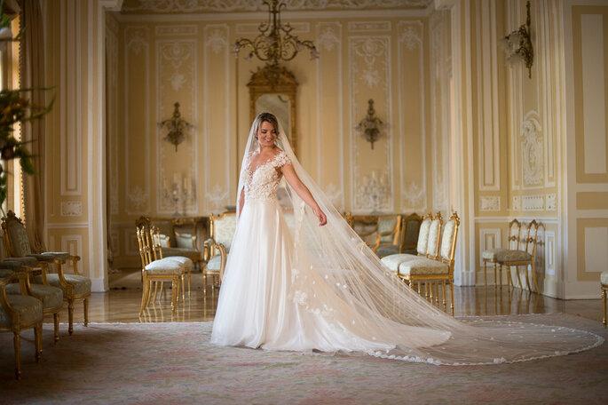 Telas bordadas para vestidos novia
