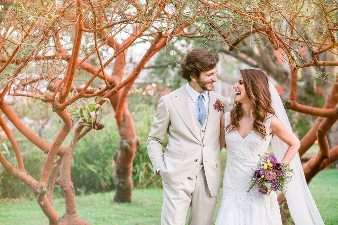 Foto de momento dos noivos