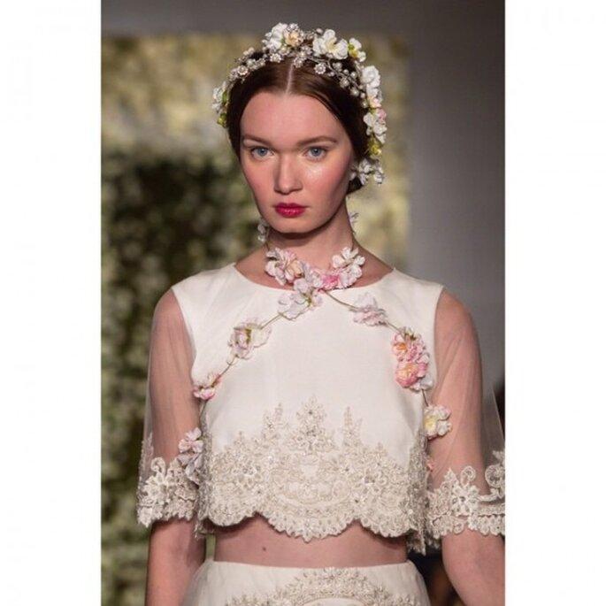Labios color cereza para tu maquillaje de novia - Foto Reem Acra
