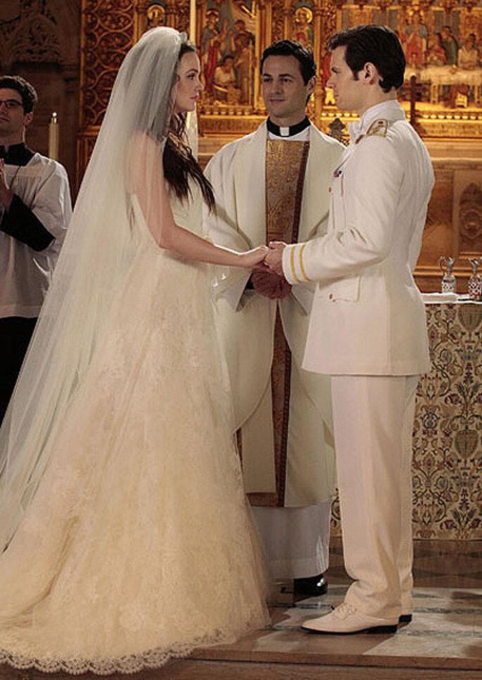 """Blair nel giorno del suo primo matrimonio con Louis. """"Real Wedding"""" dal risvolto non felice."""