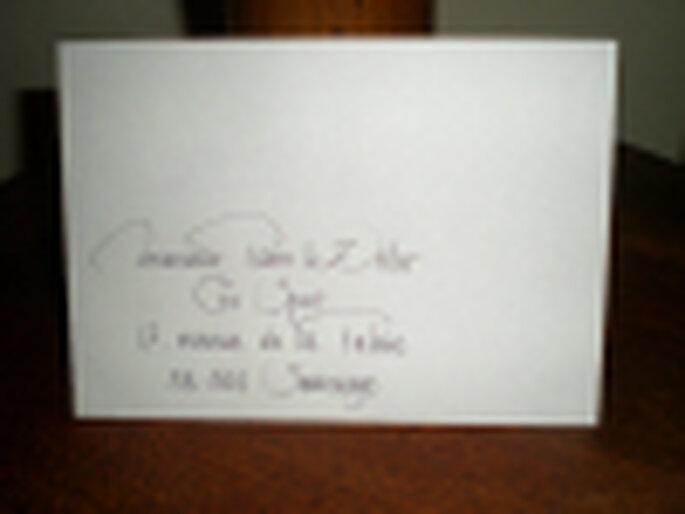 calligraphie enveloppe