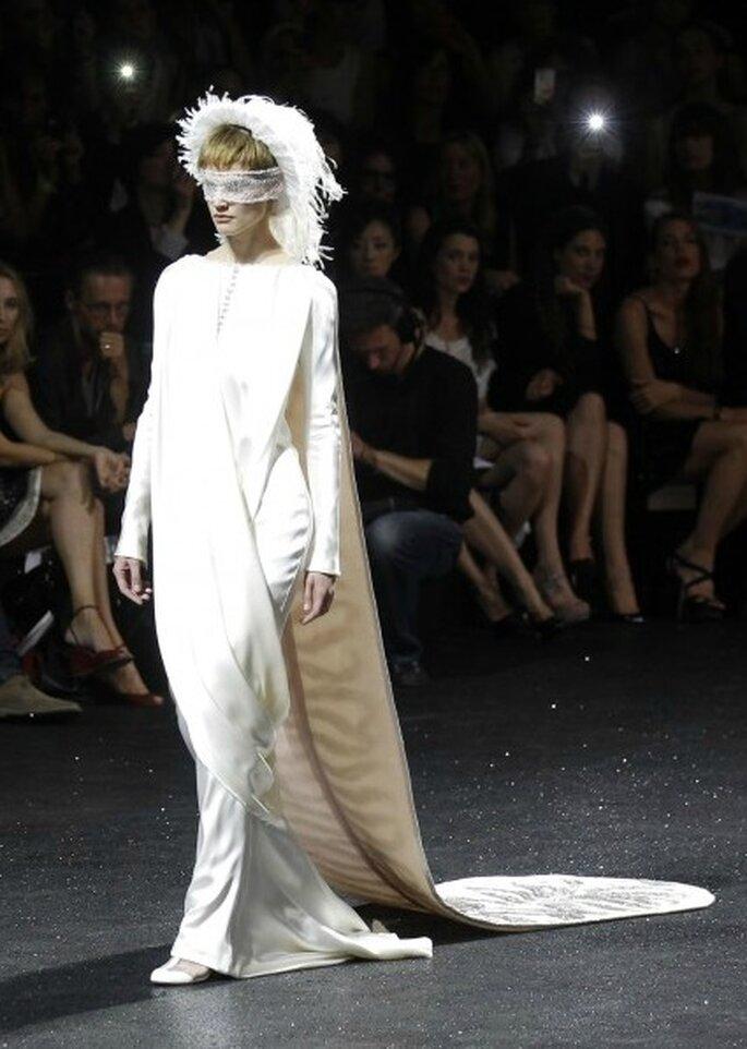 Para una boda de invierno 2011-2012 de Chanel Haute Couture