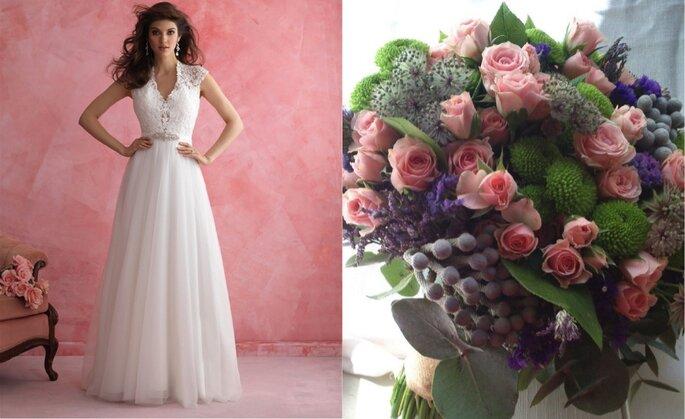 515465ea38 Como combinar o seu vestido de noiva com o buquê de flores em 5 passos