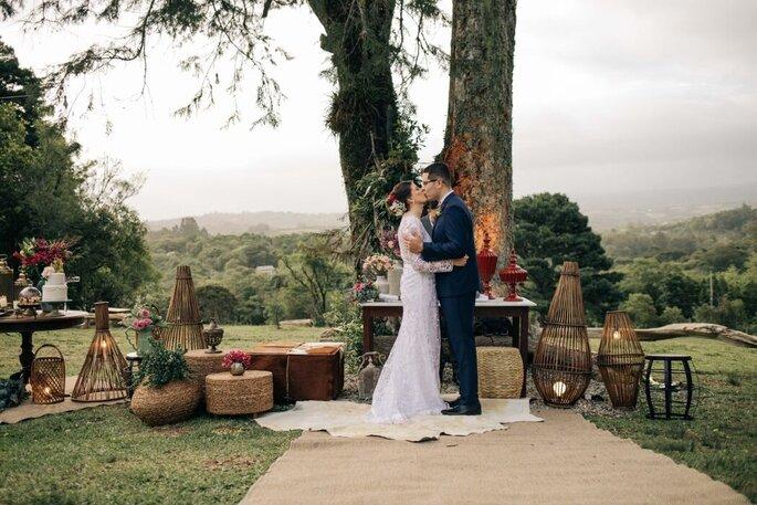 Mini wedding cheio de estilo