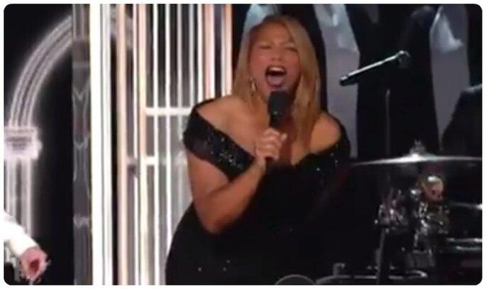 Queen Latifah durante Same Love ai Grammys