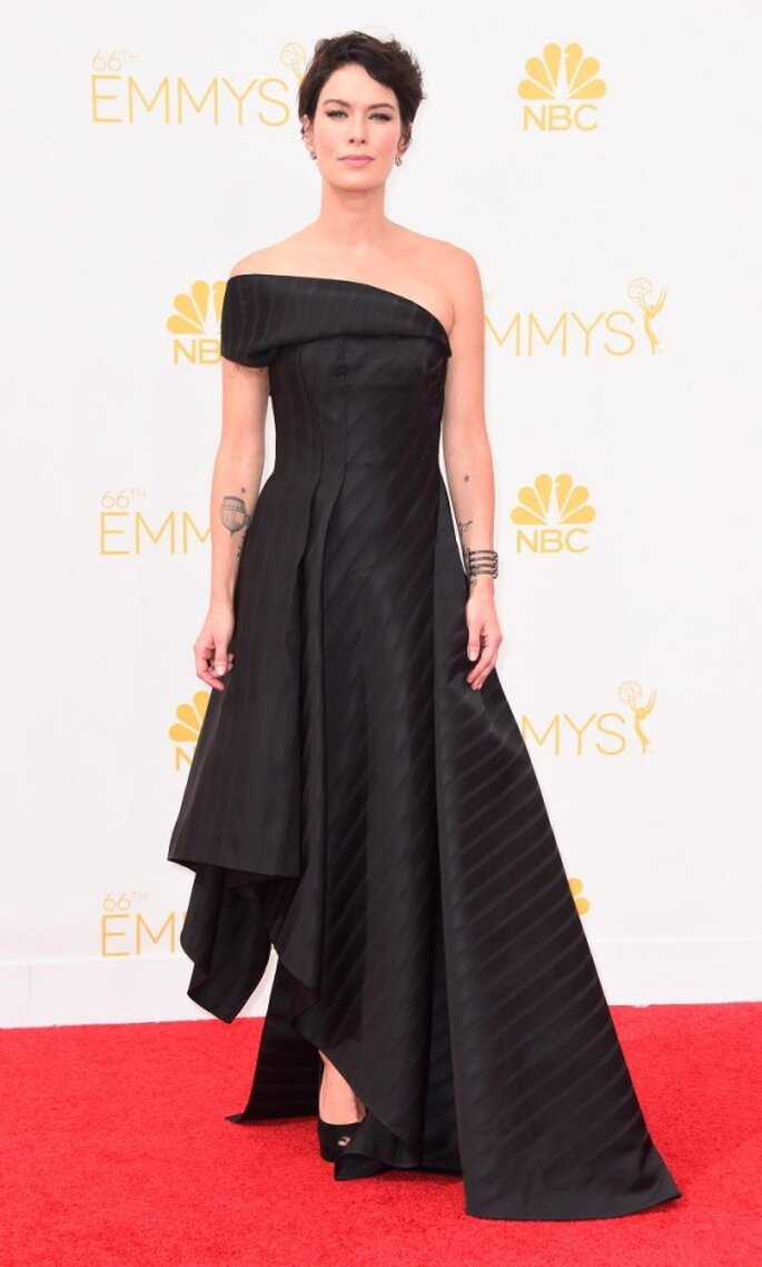 Lena Headey en la red carpet de los Emmys 2014 - Foto Rubin Singer
