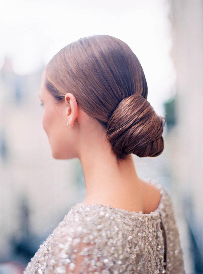 Peinados de novia con moño