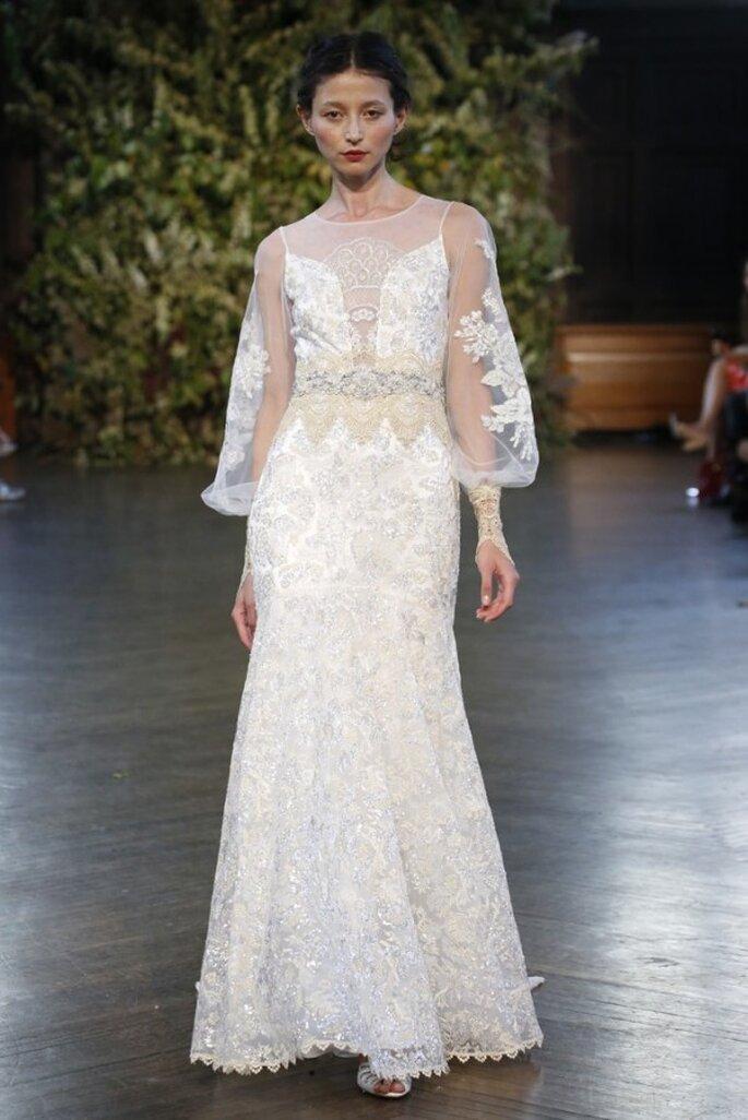 Vestidos de novia inspirados en catedrales góticas y toques bohemios - Foto Claire Pettibone