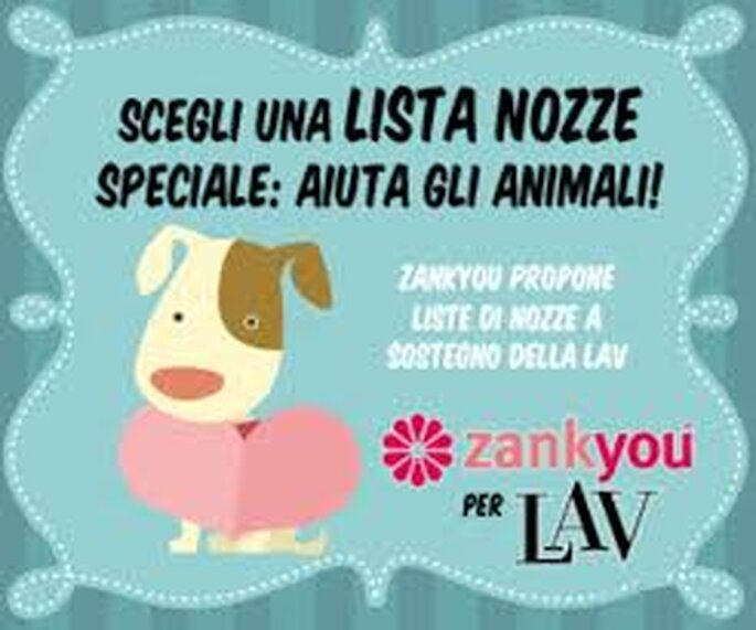 Zankyou e LAV unite per la difesa degli animali