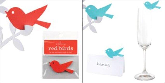 Pajaritos de colores para el árbol de los deseos o para decorar las mesas de los invitados - www.lacaperucitadigital.com