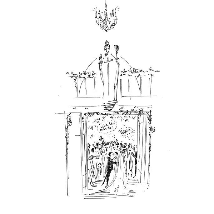 Faire-part dessinés par Croqueuse de mariage à Paris