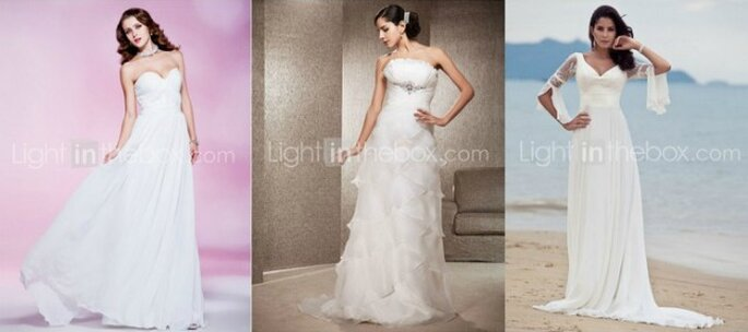 LIGHT IN THE BOX è la soluzione per avere un abito da sposa moderno ad un prezzo piccolissimo! Foto www.lightinthebox.com