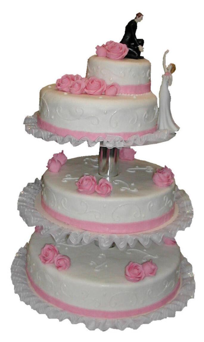 """Hochzeitstorte """"Pink Lady"""" von die-tortenmeisterin.de"""