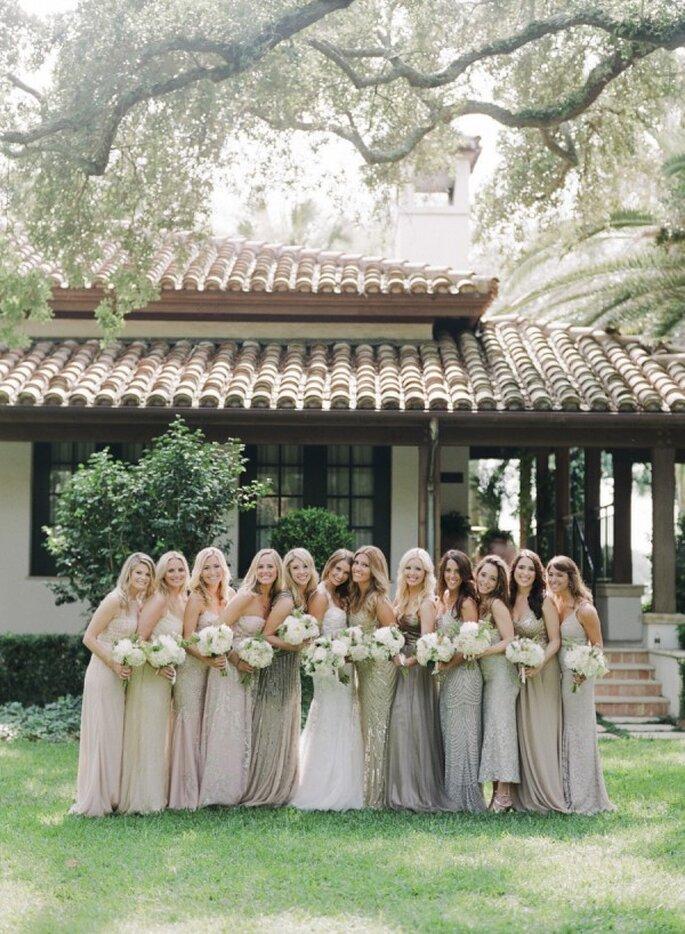 Cómo combinar los vestidos de tus damas de boda - Ashley Seawell Photography
