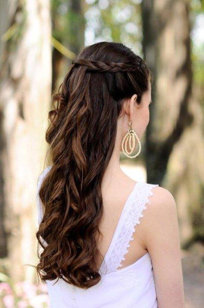 trança cascata noivas