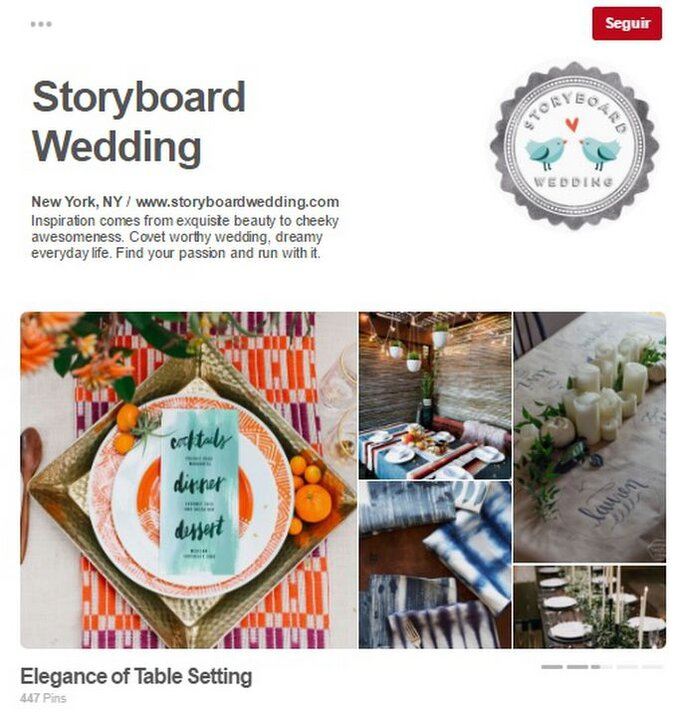 Storyboard Wedding. Foto: Pinterest