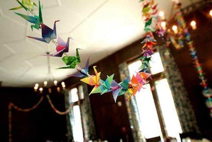 Guirnalda origami