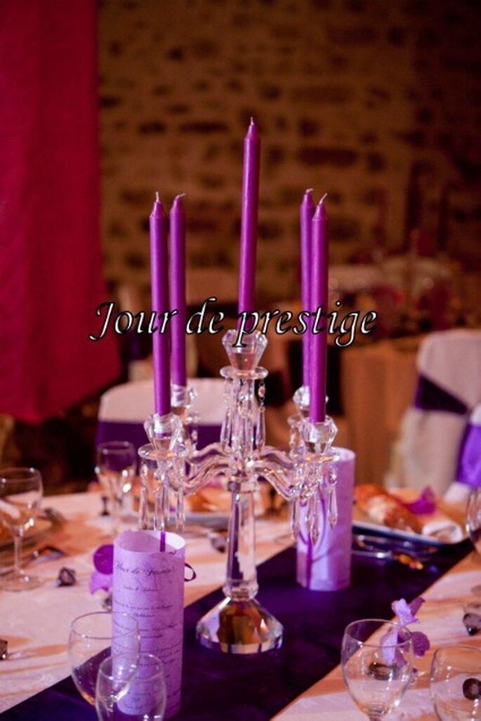 Thème de mariage : on joue le côté chic et glamour - Photo : Jour de Prestige