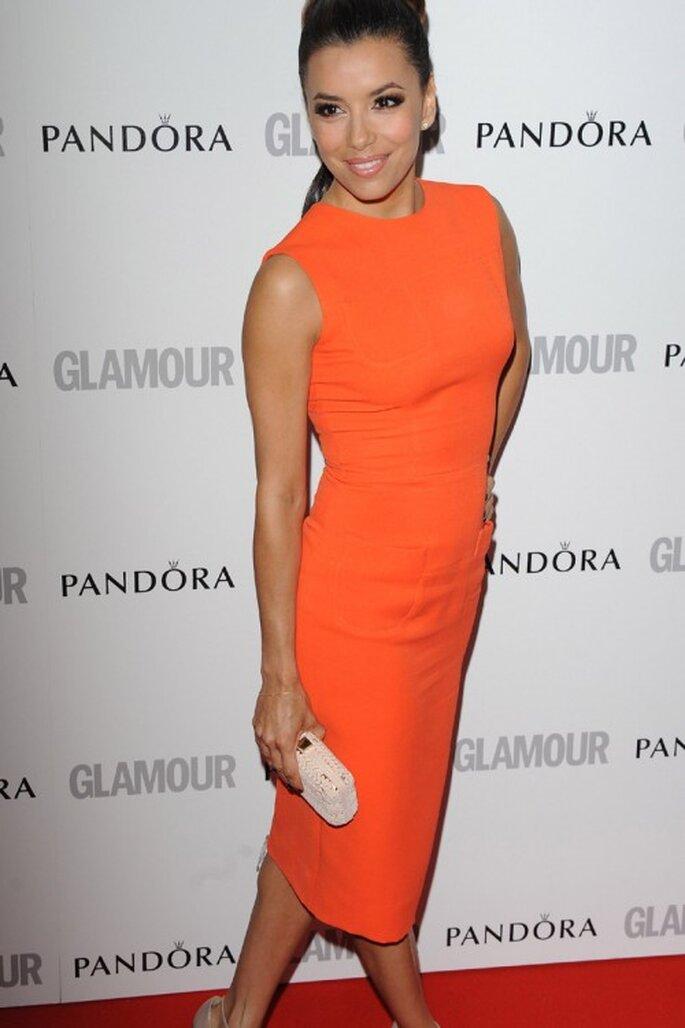 3 tendencias otoñales en vestidos de fiesta - Twitter Eva Longoria
