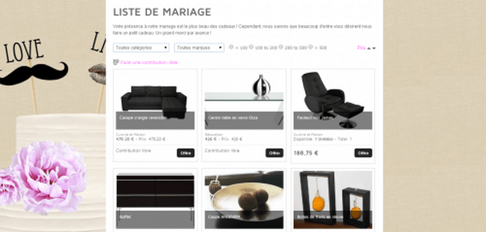 5 conseils pour cr er une liste de mariage au top. Black Bedroom Furniture Sets. Home Design Ideas