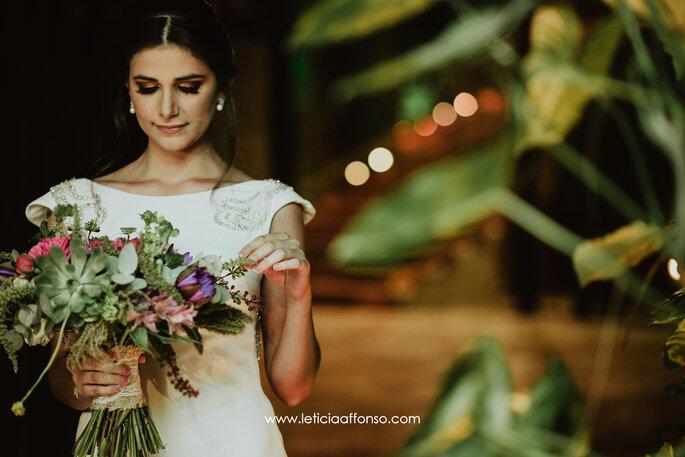 Buquê de noiva desestruturado