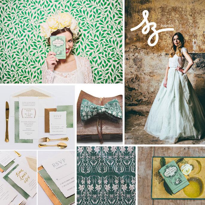 Свадьба в зеленых цветах