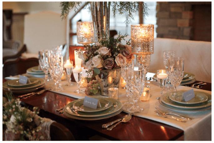 D coration de tables de mariage inspir e par no l for Service de table pour noel