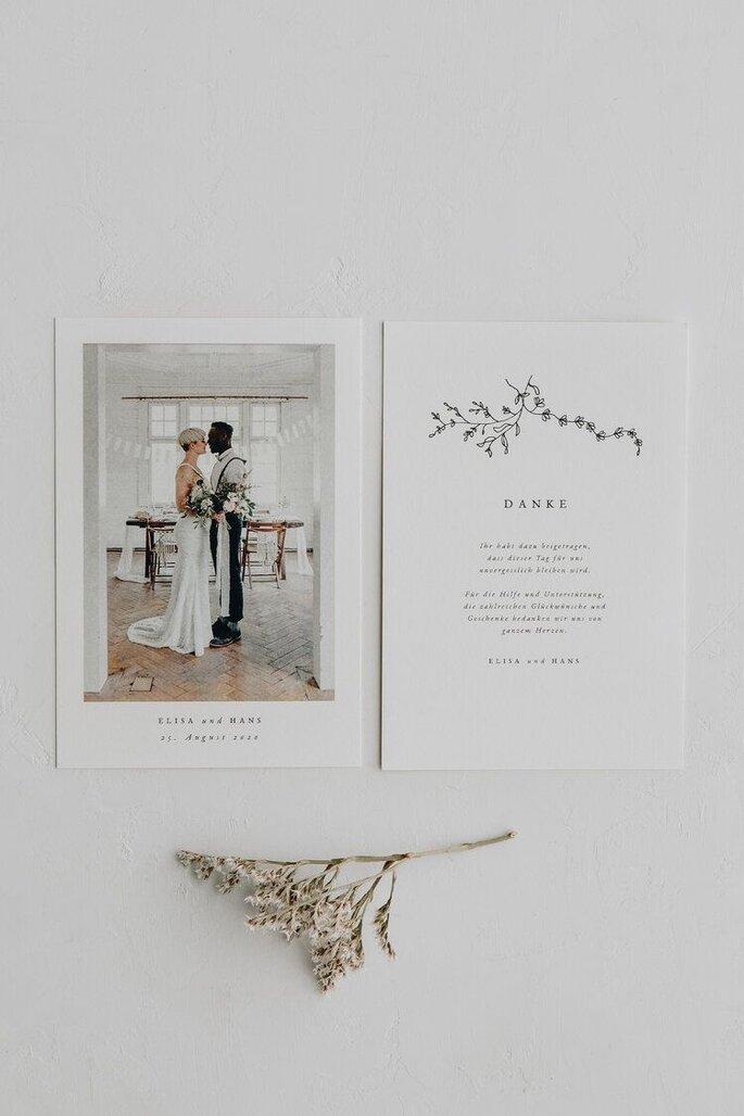 Hochzeitseinladung Postkartenformat mit Foto