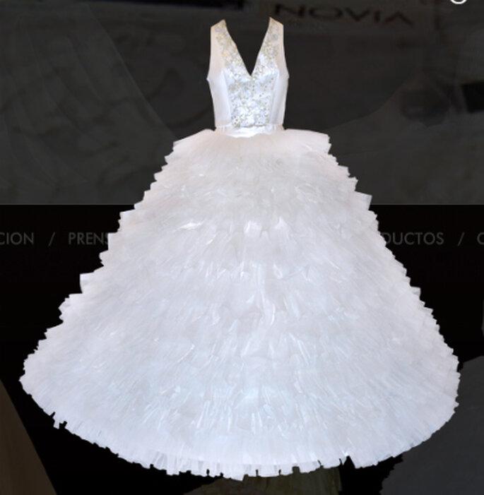 Vestido blanco, para las que gustan de colores y diseños más tradicionales