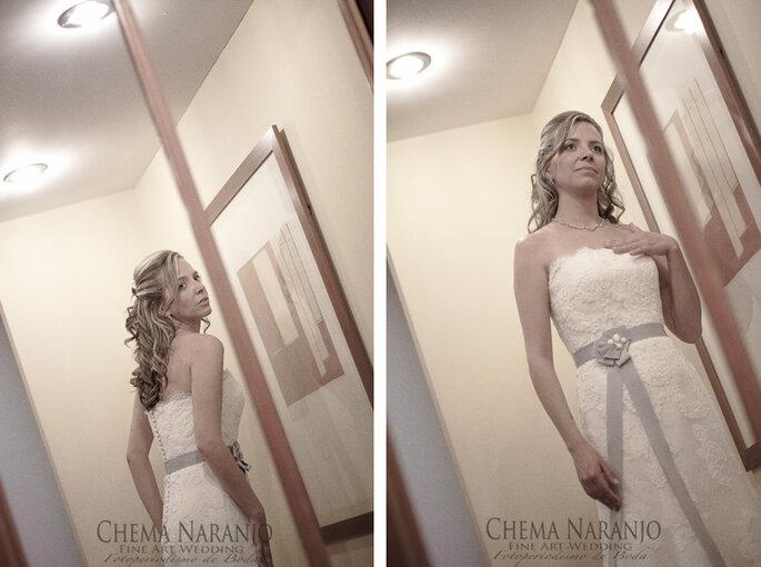 Die Brautfrisur rundet das Outfit der Braut ab - Foto: Chema Naranjo