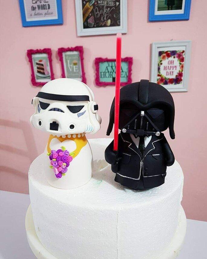 muñecos de boda y cake toppers figura de pastel de boda de star wars monitos de pastel de boda darth vader