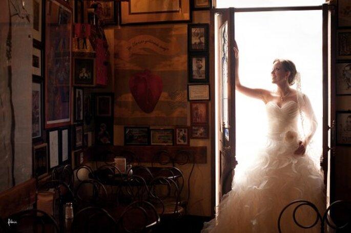 Fotografía de novia el día de la boda. FlaiiFoto