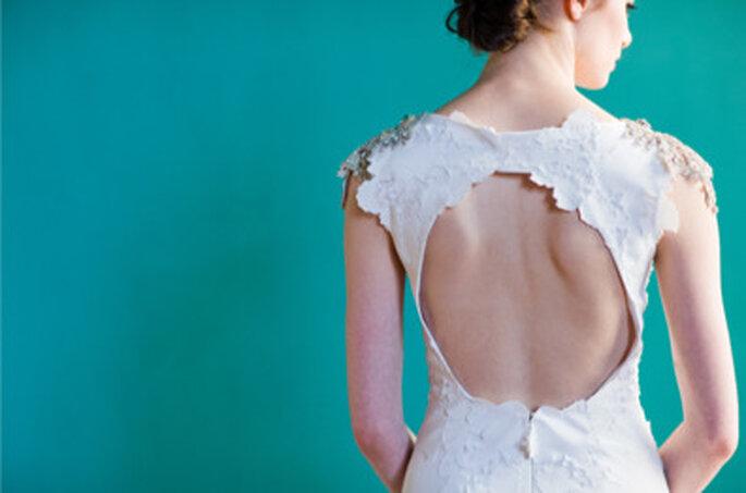 """Detalle de la espalda - vestido de novia """"Pemberley"""" de Carol Hanna. Foto: http://carol-hannah.com/"""