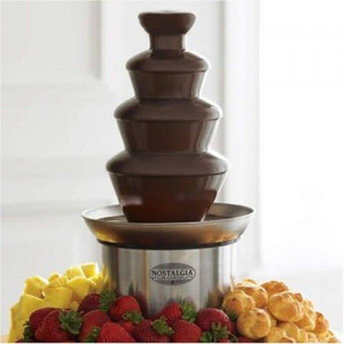 Fuente de chocolate para banquetes originales.