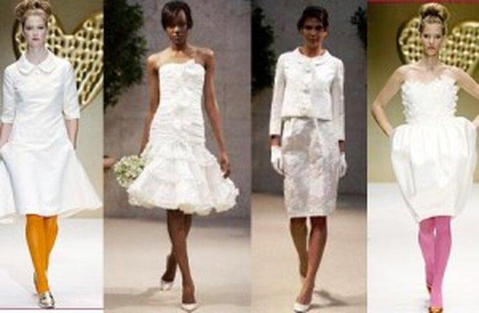Ultimas tendencias de vestidos cortos de Oscar de la Renta y Angel Sanchez