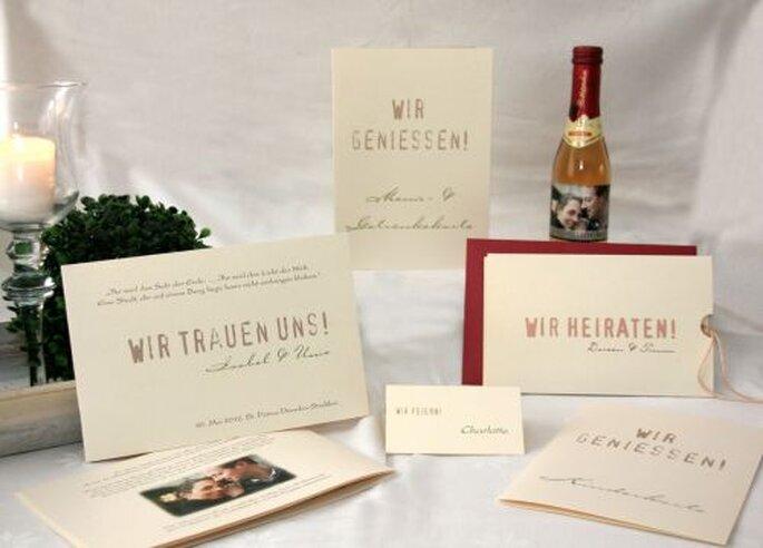 Hochzeitseinladungen schlicht und einfach, Foto: Cela Design