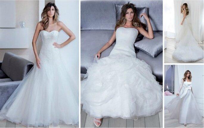 Quattro modelli della Collezione 2012 di Nicole Spose indossati dalla testimonial della griffe Melissa Satta
