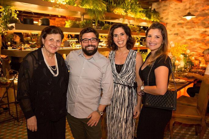 Olenka, Thiago Calil, Claudia Hadad e Beatriz Dias