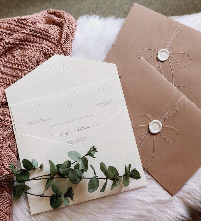 convite de casamento layla e william