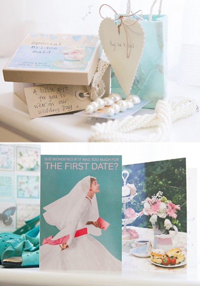 Incorpora detalles en color menta para la decoración de tu boda - Foto HBA Photography